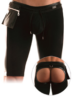Modus Vivendi - Latex Short Bottomless Collant Black