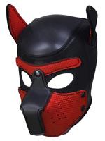 Pupplay Dog Mask - Black/Red