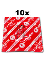 10 x London Condoms - Red with strawberry flavor